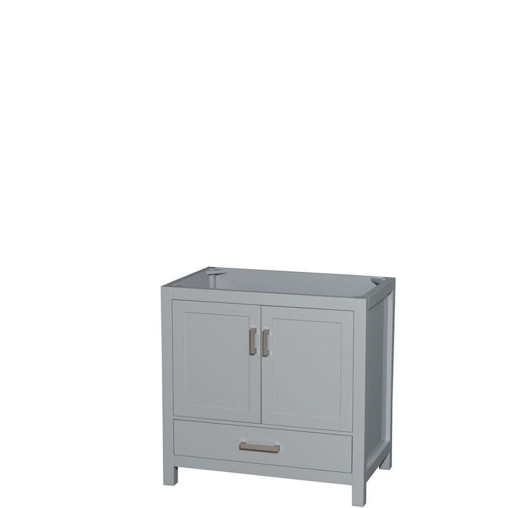 Photo Gallery On Website Wyndham Collection Sheffield in W x in D Vanity Cabinet in Gray
