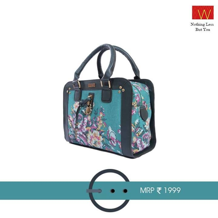 Your #bag is like your sidekick in daily life - and this one is exceptionally #pretty! #Armcandies just a #click away :http://shopforw.com/categoryProducts.php?catID=180&maincatName=Accessories&smallCat=Bag