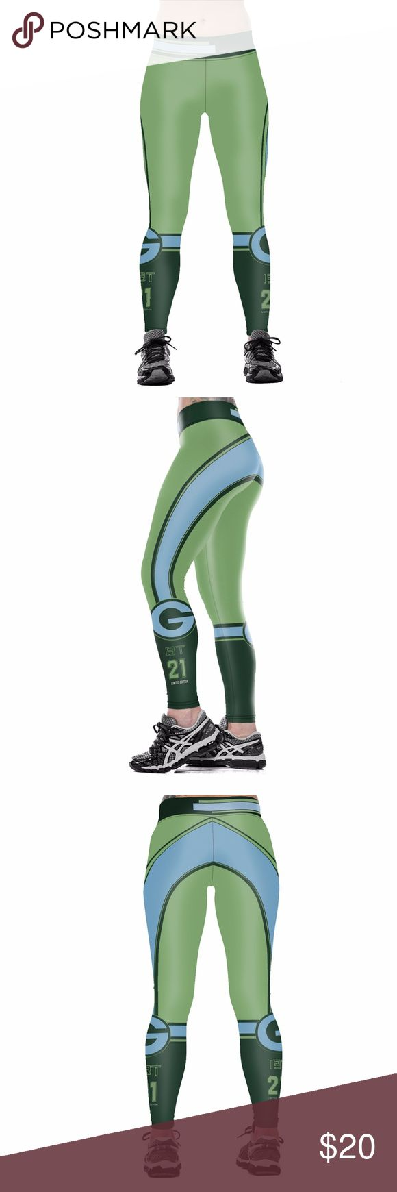 Green Bay Packers Leggings Lightweight soft- quick dry breathable fabric Suitable for any kind of workout, gym, yoga, Zumba, cycling, etc. or casual wear High-quality construction with 6-thread double lock stitch seams Four-way Stretch Material: 82% Polyester, 18% Spandex Pants Leggings