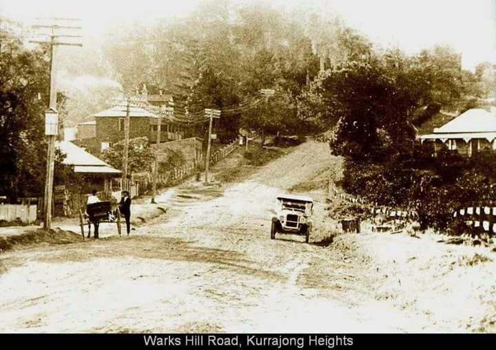 Warks Hill Road, Kurrajong Heights north west of Sydney (Photo undated) possible 1920's. v@e