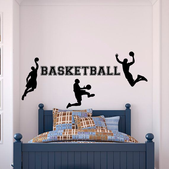 Basketball wall decal sports man basketball player sport for Stickers juveniles