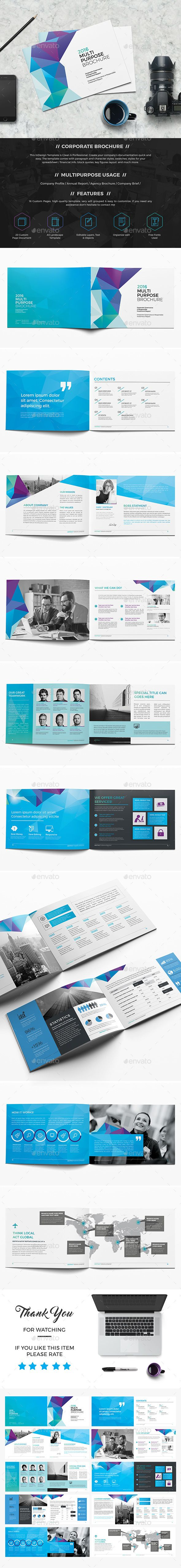 Abstract Landscape Brochure 20 Page Template InDesign INDD. Download here: http://graphicriver.net/item/abstract-landscape-brochure-20-page/16503233?ref=ksioks