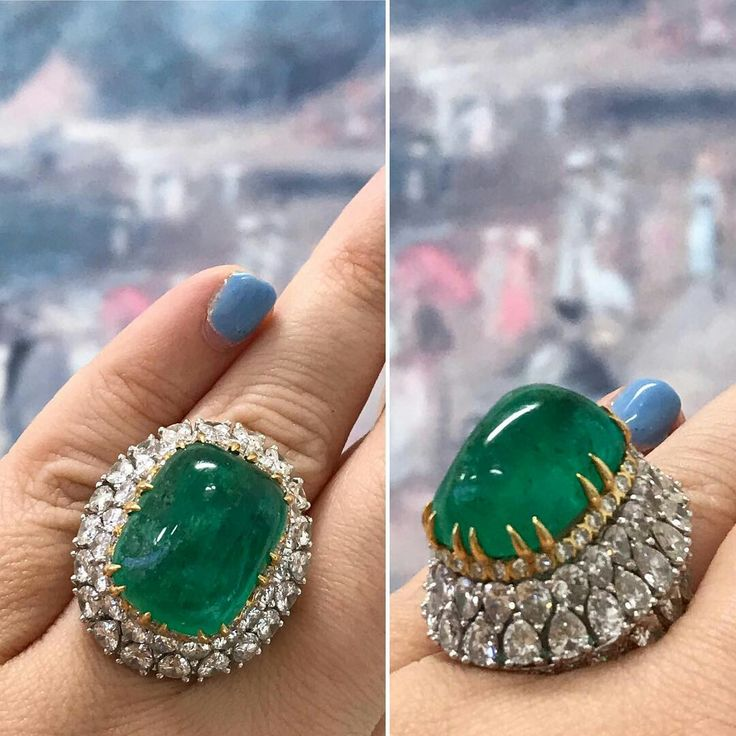In our last auction our #davidwebb #emerald and #diamond #ring went 8 times it's original estimate. This #davidwebbjewel