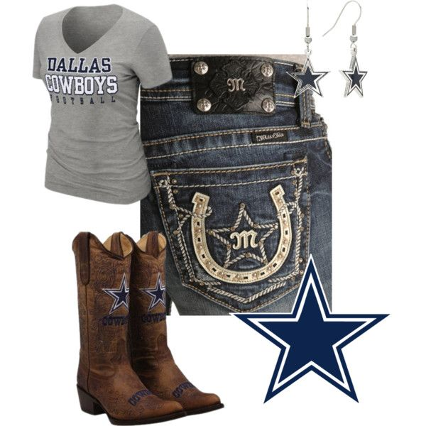 """Dallas Cowboys Fan- Country Style"" by cowgirl2thecore on Polyvore"