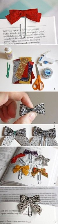 Bow pin: Bow Bookmarks, Ideas, Gift, Diy Crafts, Book Mark