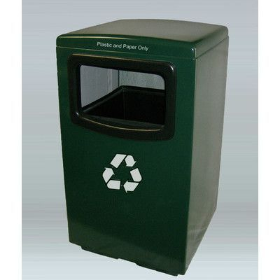 Allied Molded Products Amber 50-Gal Industrial Recycling Bin Color: Anastasia Emerald