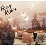 Pony Rider X cushion | take a hike cushion | dark forest throw | please come up cushion | bed linen