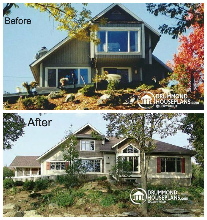 Before & after   Addition of a terrace + new home space !  Get your free cost estimate for your renovation plan here : http://www.drummondhouseplans.com/renovation-plans/steps-for-the-conception.html  http://www.drummondhouseplans.com/renovation-plan-detail/info/1000091.html