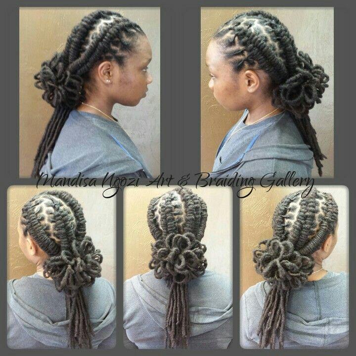 Loc petals & fishtail braids by NeciJones