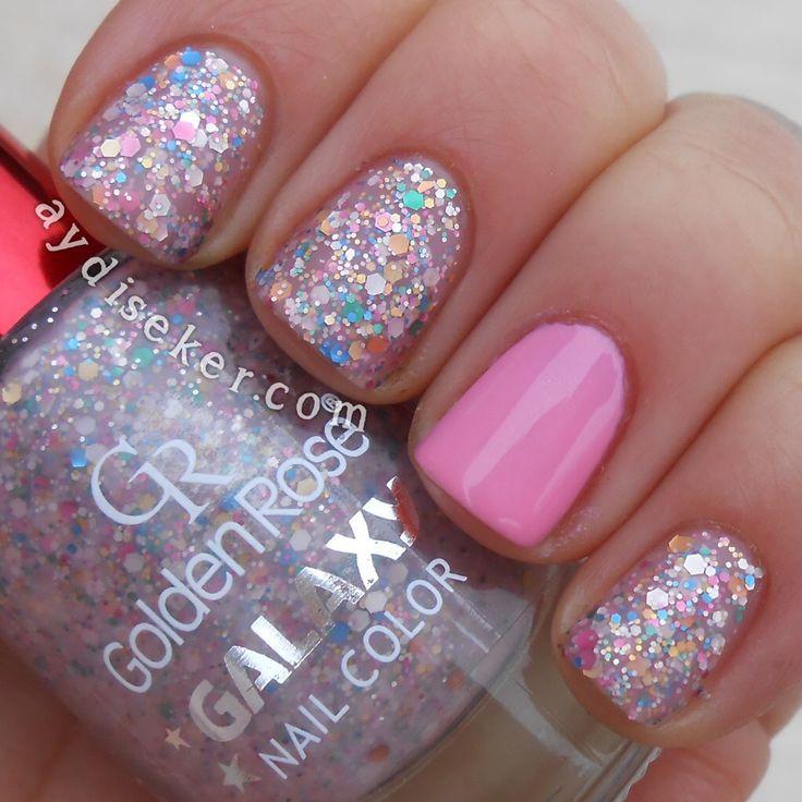 golden rose nail polish galaxy