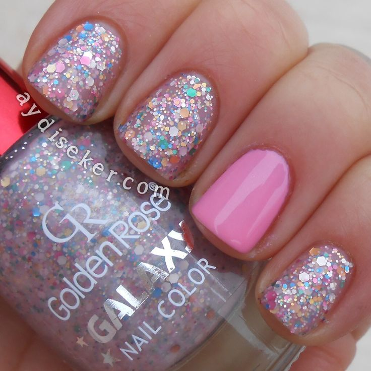 golden rose nail polish galaxy