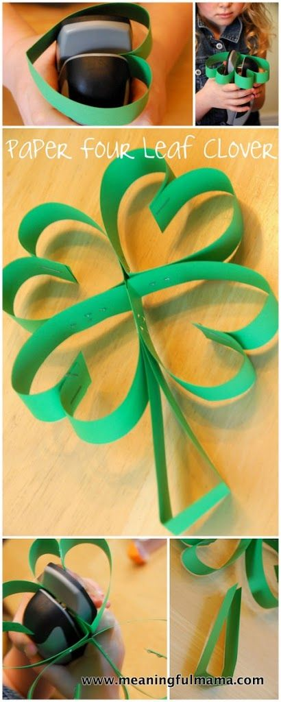 Four Leaf Clover Paper Art for St. Patrick's Day - Meaningfulmama.com
