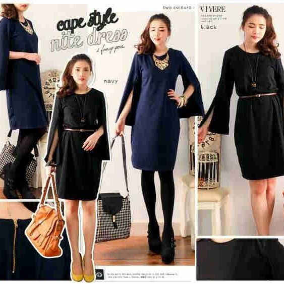 Cape Nite Dress Matterial : wedges Colour : navy, black IDR 160000