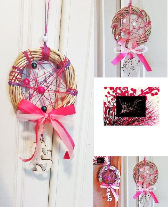Dreamcatcher wreath with fairy by KassiArtFashion on Etsy