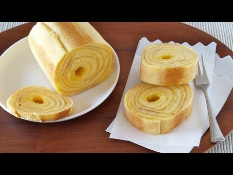 ▶ How to Make Baumkuchen (German Layered Cake) at home バームクーヘンの作り方 (レシピ) - YouTube