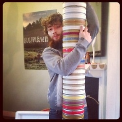 Alan's tower of 35mm is taller than he is!!!