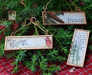 Ornaments from Microscope Slides and Copper Tape - Ingenious!