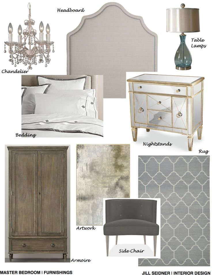 Arcadia CA Residence Online Design Project Master Bedroom Furnishings Concept Board JSInteriorDes