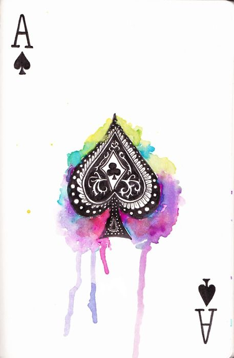 ace of spades, would make great wall art. or body art for that matter ;)