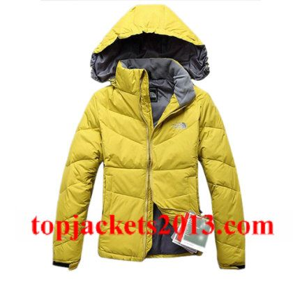 The North Face Outlet Womens 700 Fill Goose Down Jacket Yellow