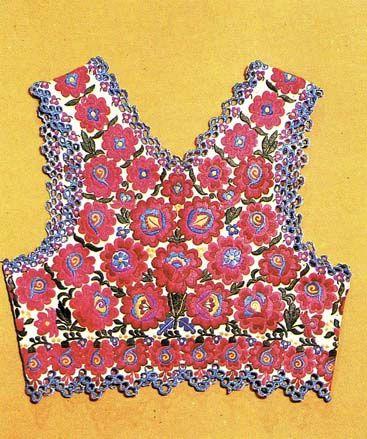 embroidered vest from Sióagárd