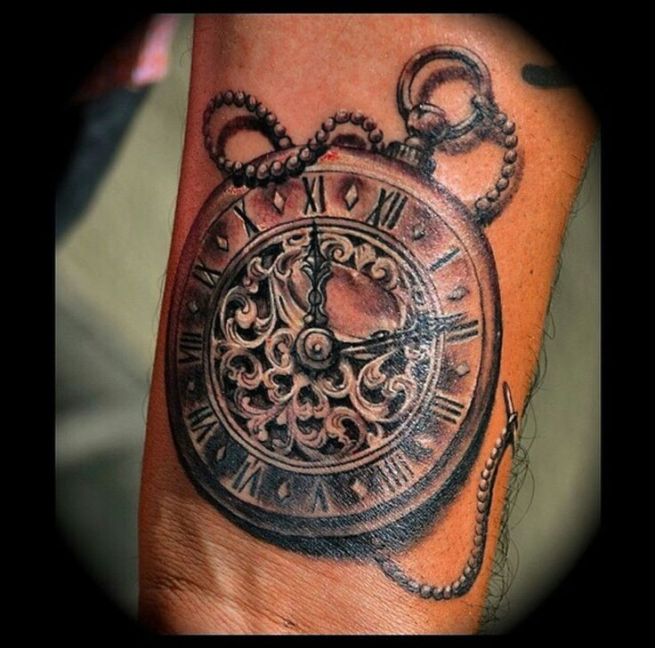 Time Piece Tattoo by Tomas Archuleta at True Fit Tattoo.
