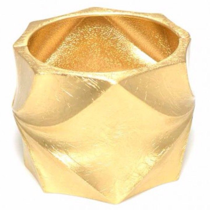 004840 Brushed Gold Thick Bracelet from Turn Her Style, LLC for $35 on Square Market