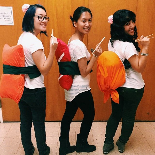 Pin for Later: 3 of a Kind: 21 Trio Costumes to Wear With Your Best Friends Sushi