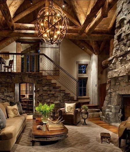 Las 25 mejores ideas sobre chimenea de caba a en - Chimeneas de campo ...