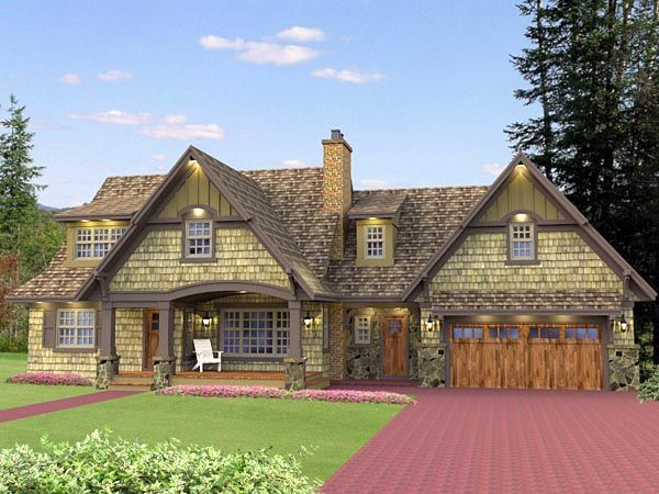 Cottage craftsman french country house plan 42646 for French cottage plans