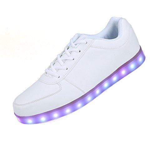 Oferta: 24.99€. Comprar Ofertas de Vnfire Unisex 8 Colors USB Carga LED Luz Luminosas Flash Zapatos Zapatillas Sneakers de Deporte Para Hombres Mujeres Blanco T barato. ¡Mira las ofertas!