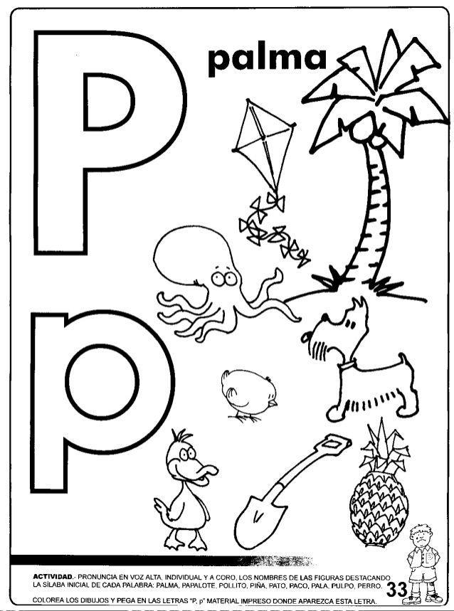 Imagen Relacionada Fonema P Letras Preescolares