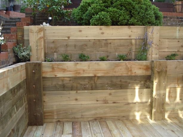 B E Ece F Ebe B E Sleeper Retaining Wall Wood Retaining Wall