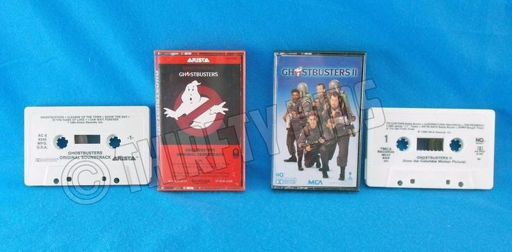 Ghost busters Original Soundtrack Ghostbusters 2 Sound track 1 2 Cassette Tape  #ContemporaryRB