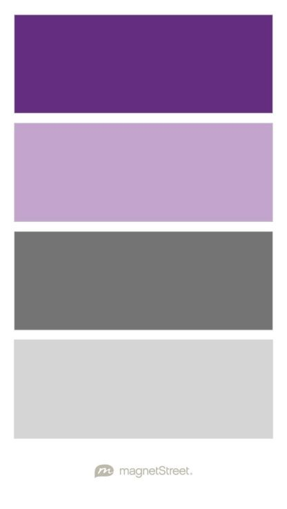 Plum, Lilac, Charcoal, and Silver Wedding Color Palette - custom color palette created at MagnetStreet.com