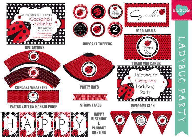 17 best ideas about ladybug invitations on pinterest