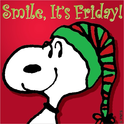 Snoopy Friday Quote - Smile, It's Friday!