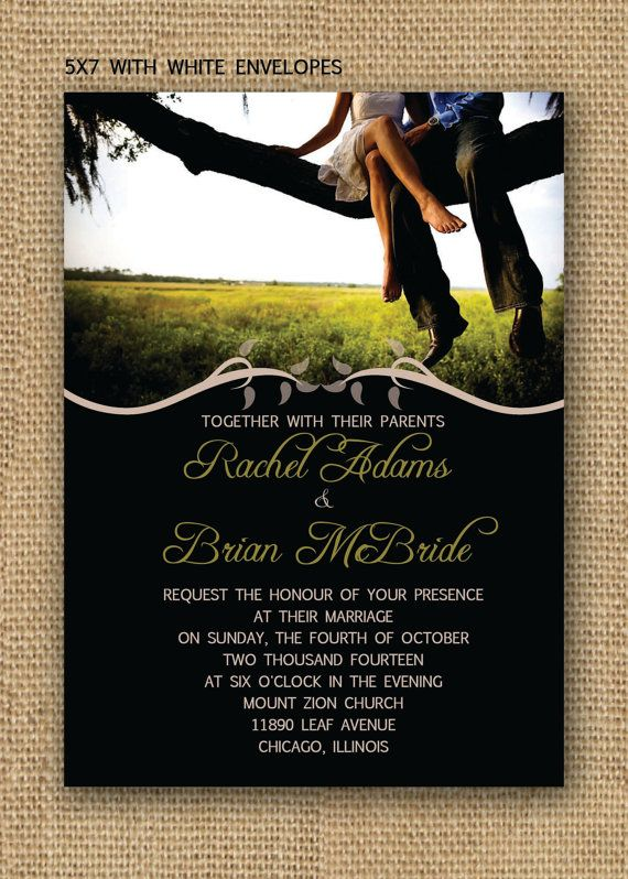 Simple Love Wedding Invitation Set by TheModernInvite on Etsy, $2.00 Official Invitations :)