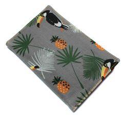 Pochette papiers de voiture homme femme toucan et ananas - pochette carte grise, permis, assurance