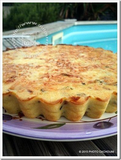 Tarte sans pâte courgettes brousse