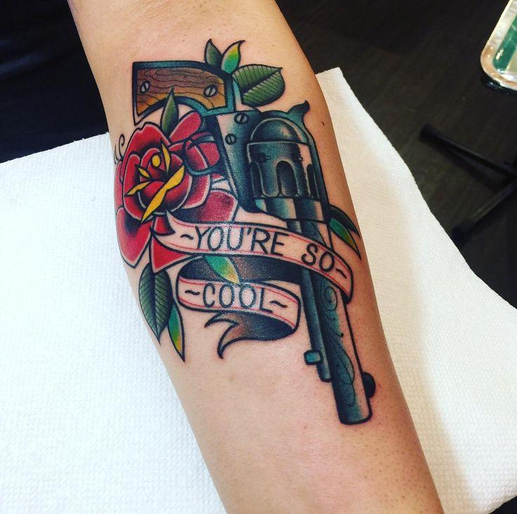 """My """"True Romance"""" inspired forearm piece by Gabe @ Brooklyn Tattoo in Brooklyn NY"""