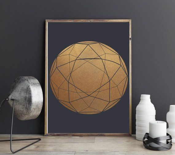 Modern Minimalist Geometric Circle Print Modern by WonderlinaShop