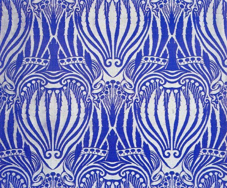 Arthur Mackmurdo, Textiles, Made by Century Guild, London 1882