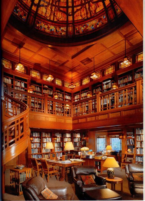 Library at Skywalker Ranch, built by George Lucas. The library houses 27,000 volumes.