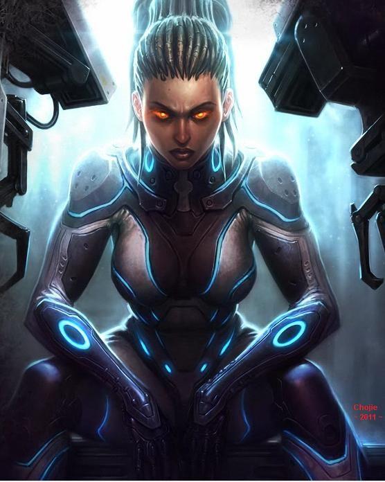 Future, Futuristic, Cyberpunk, Science Fiction, Tron Suit, Futuristic Costume, Future Girl, Sarah Kerrigan in Ghost Suit by ~DeviasCritizizer on deviantART
