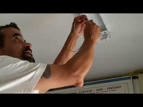 8 foot fluorecent lights changed to T8 LED installation how to do - YouTube