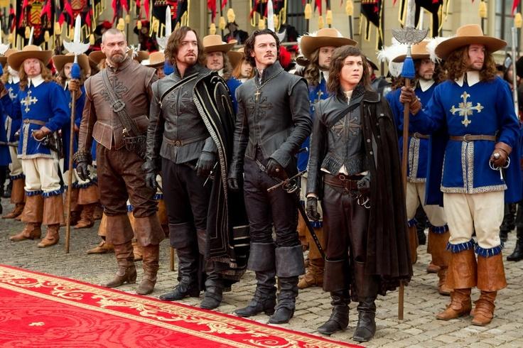 Luke Evans, Ray Stevenson, Logan Lerman and Matthew Macfadyen in The Three Musketeers (2011)