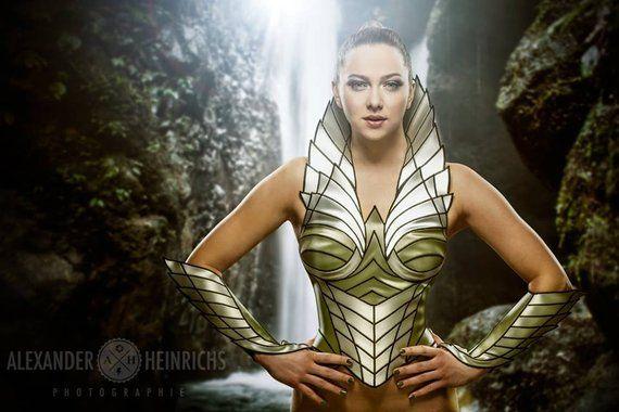 Fairy fantasy cosplay corset ,larp corset, sci fi costume