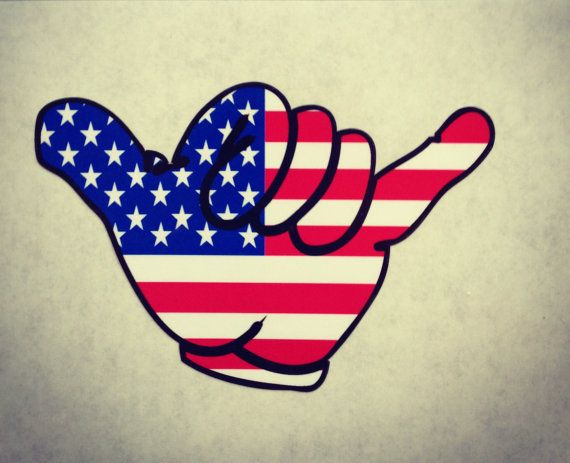 Hang Loose American Flag Sticker / Decal by SDStickerDesigns, $10.00