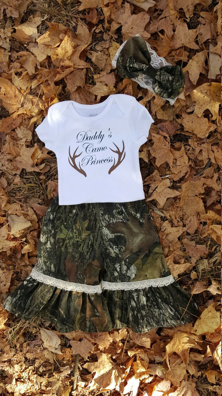 Camo Baby Clothes, baby girl Camo outfit, Infant Camo Outfit, Mossy Oak Baby, Infant hunting camo clothing, baby gift, country girl clothes by JustSewItandMore on Etsy